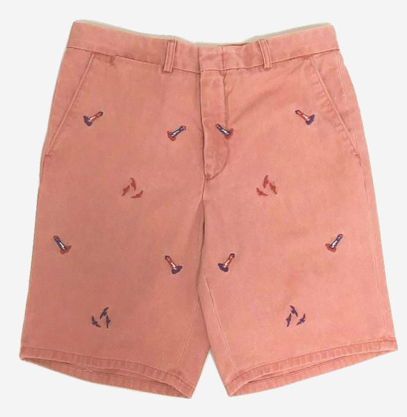 Nantucket Reds™ M Crest Collection Men's Slim Fit Embroidered Lighthouse Shorts
