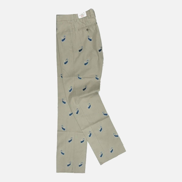 Nantucket Reds Collection™ Men's Embroidered Whale Pants - Khaki