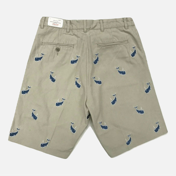 Nantucket Reds Collection™ Men's Embroidered Whale Bermuda Shorts - Khaki