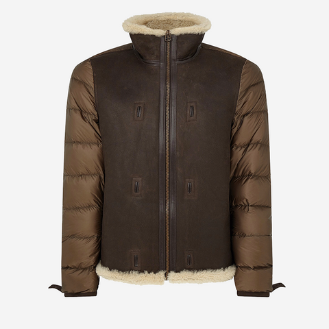f5f6d461509 Barbour Annas Waxed Jacket - Olive.  379.00  189.50. Ten C Shearling Liner  - Brown