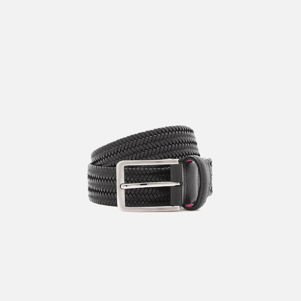 Beltology Litmus Men's Designer Belt - Black Leather