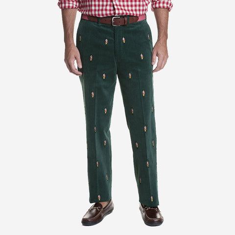 Castaway Beachcomber Corduroy Pant - Hunter with Nutcracker