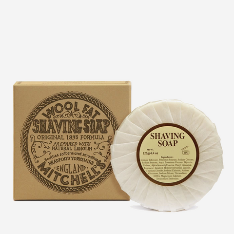 Mitchell's Wool Fat Shaving Soap Refill
