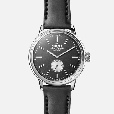 Shinola The Bedrock Chrono 42mm Men's Black Watch -  Black Cordovan Strap