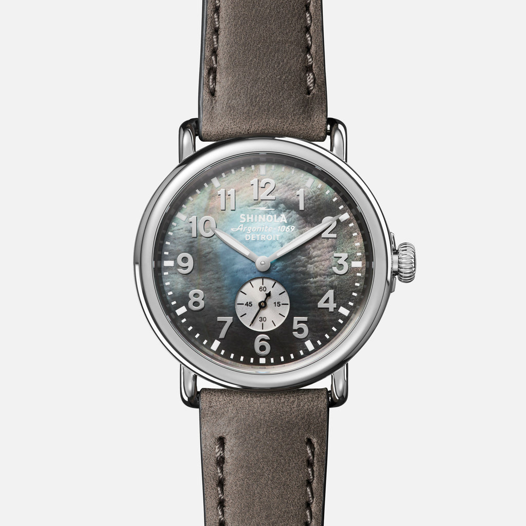 Shinola The Runwell 41MM Men's Gray Watch - Heather Gray Leather Strap