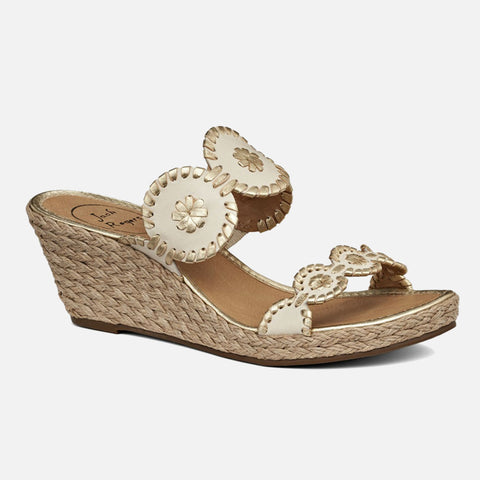 Jack Rogers Shelby Wedge - Bone/Gold