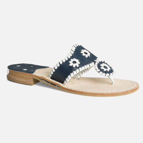 Jack Rogers Palm Beach Sandal - Navy/White