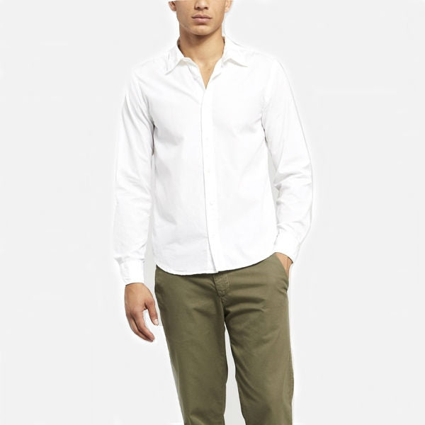 Save Khaki Men's Poplin Easy Shirt - White