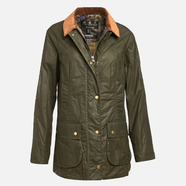 Barbour Lightweight Beadnell Wax Jacket - Olive