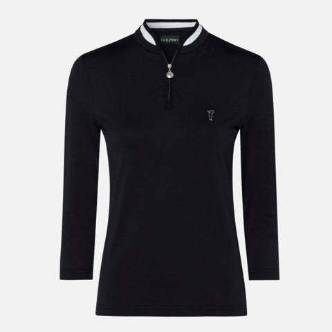 Golfino The Dry Comfort 3/4 Sleeve Troyer - Navy