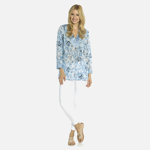 Sail To Sable Fish Print Tunic Top