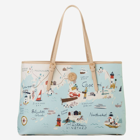 Spartina 449 Map Tote - Northeastern Harbors