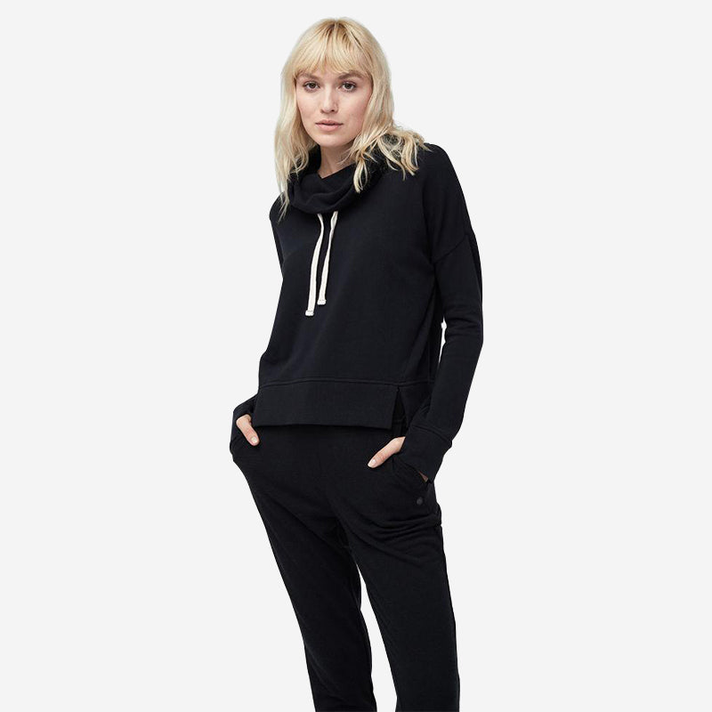 UGG Women's French Terry Miya Funnel Neck - Black