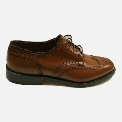 Alden Wing Tip Blucher Burnished Tan Calfskin