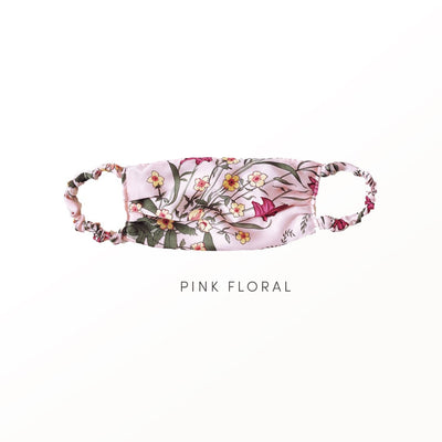 Pink Floral - Reusable Face Covering Accessories Nanor