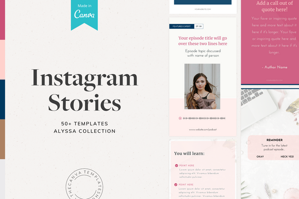 The Alyssa Instagram Story Canva Templates