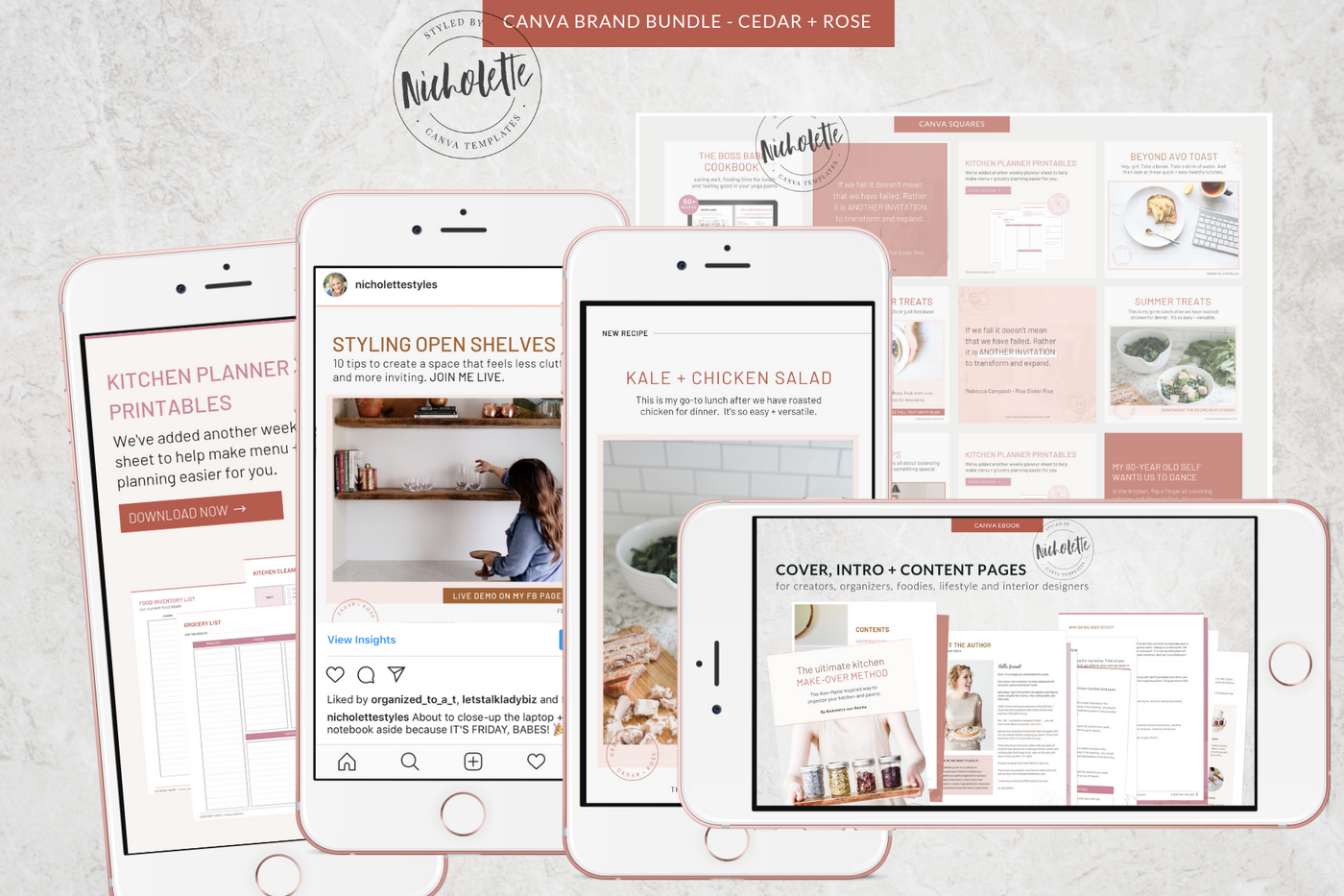 The Cedar + Rose Canva Template Bundle