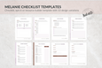 The Melanie Canva Checklist Templates
