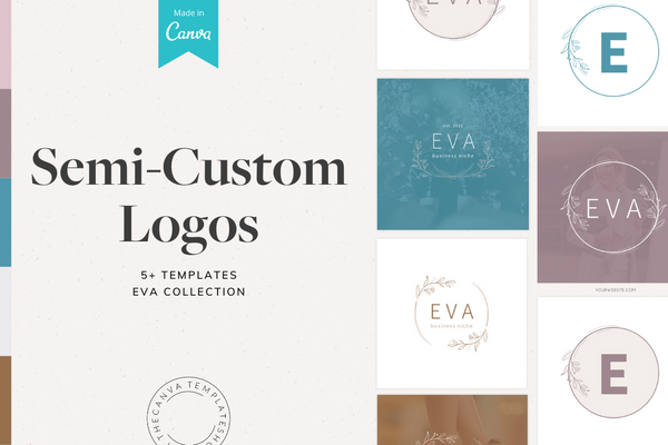 The Eva Semi-Custom Logo Canva Template Bundle