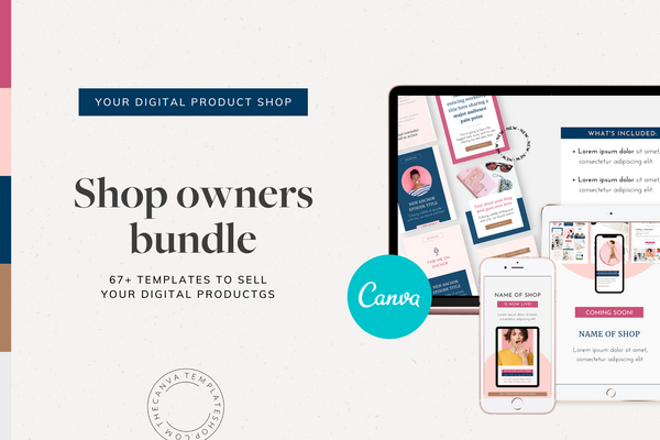 The Shop Owners Canva Template Bundle (for Etsy, Creative Market and More!)