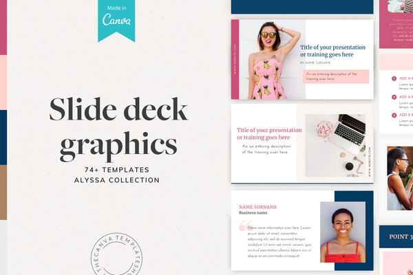 The Alyssa Slide Deck Canva Templates