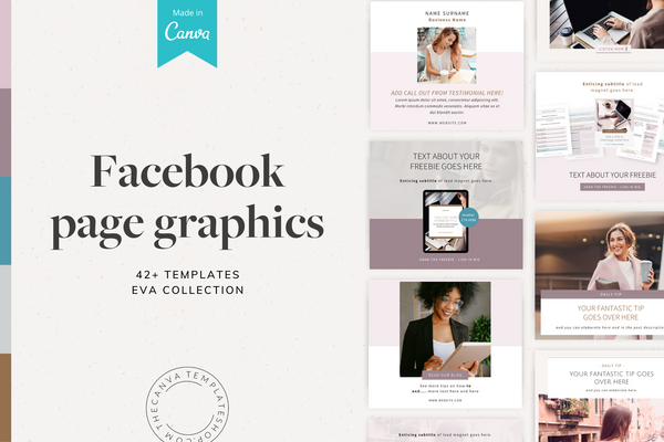 The Eva Facebook Page Canva Templates