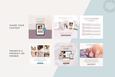 The Eva Instagram Squares Canva Templates