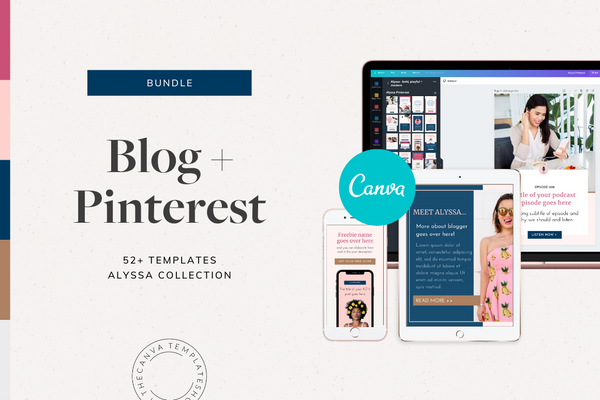 The Alyssa Blog + Pinterest Canva Templates