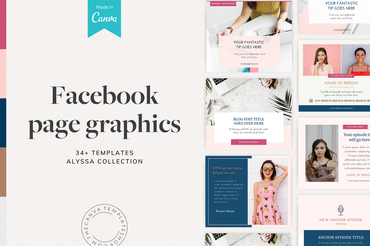 The Alyssa Facebook Page Canva Templates