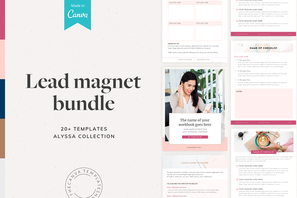 The Alyssa Lead Magnet Bundle Canva Templates