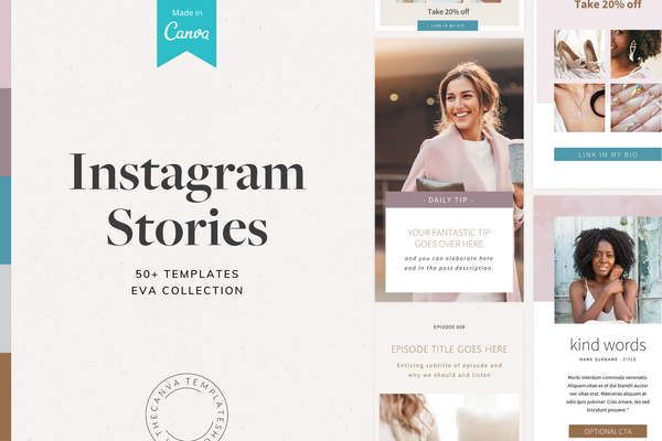 The Eva Instagram Story Canva Templates