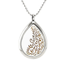 Load image into Gallery viewer, Water Drop Diffuser Necklace Pendant Stainless Steel Essential Oil Aromatherapy Perfume Locket With S.S Necklace With 10pcs Pads