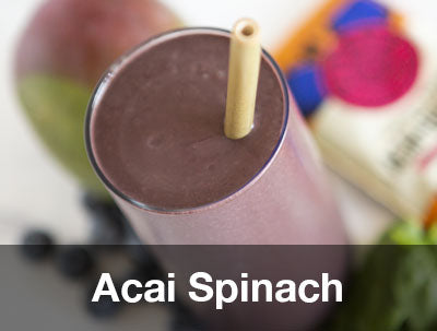 ACAI SPINACH FRUIT SMOOTHIE PITAYA FOODS