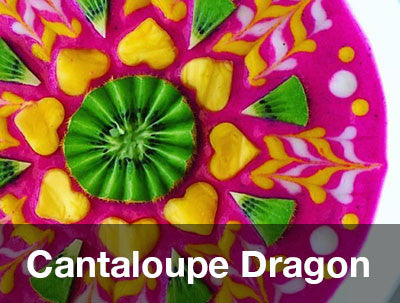 Cantaloupe Dragon Bowl Recipe