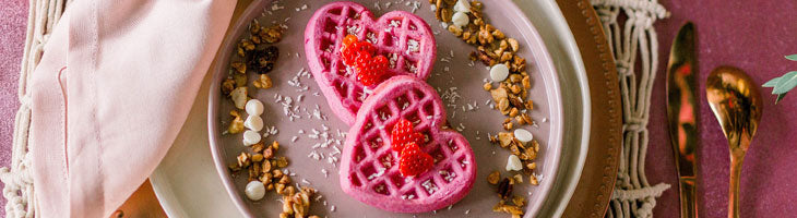Pink Heart Shaped Waffles Recipe Pitaya Plus