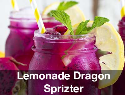 Lemonade Dragon Spritzer | Pitaya Plus Recipe