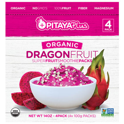 Pitaya Plus Dragon Fruit Smoothie Packs