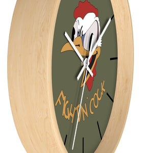 "B-26 ""Fightin' Cock"" Inspired Wall clock - I Love a Hangar"
