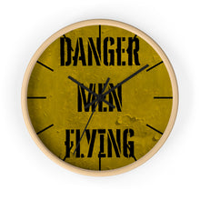 Load image into Gallery viewer, Danger Men Flying Wall Clock - I Love a Hangar