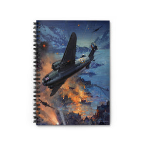 Night Bombing Operations Inspired Spiral Notebook