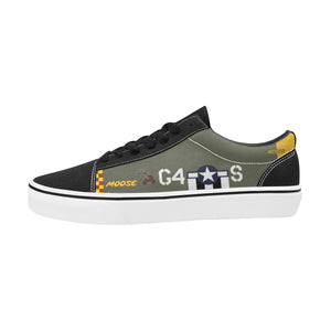 "P-51D ""Moose/Candyman"" Men's Lace-Up Canvas Shoes - I Love a Hangar"