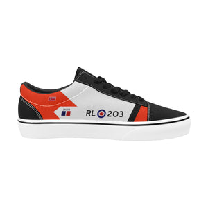 RCAF Avro Canada CF-105 Arrow #203 Men's Lace-Up Canvas Shoes - I Love a Hangar
