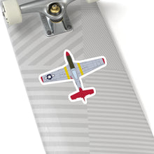 "Load image into Gallery viewer, P-51 ""Bunny"" Top View Inspired Inspired Kiss-Cut Stickers - I Love a Hangar"
