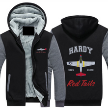 "Load image into Gallery viewer, P-51 ""Tall In The Saddle"" Sherpa Lined Full Zip Hoodie - I Love a Hangar"