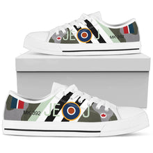 Load image into Gallery viewer, RAF Spitfire of Johnnie Johnson Inspired Men's Low Top Canvas Shoes - I Love a Hangar