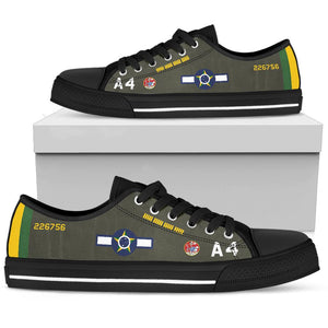 Lt Alberto Martins Torres P-47D Thunderbolt Inspired Men's Low Top Canvas Shoes - I Love a Hangar
