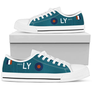 "Spitfire PR Mk IV of FltLt ""Sandy"" Gunn Inspired Men's Low Top Canvas Shoes - I Love a Hangar"