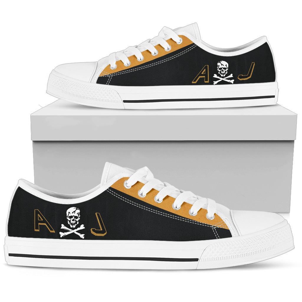 VF-84 Jolly Rogers Inspired Men's Low Top Canvas Shoes - I Love a Hangar