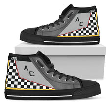 "Load image into Gallery viewer, VMFA-312 ""Checkerboards"" Inspired Men's High Top Canvas Shoes - I Love a Hangar"