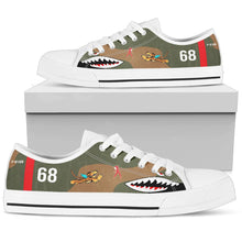 "Load image into Gallery viewer, P-40B ""Flying Tigers"" Inspired Women's Low Top Canvas Shoes - I Love a Hangar"